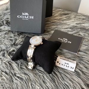 NWT authentic COACH two tone Park watch